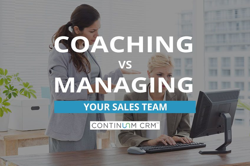 Managing vs Coaching a Sales Team